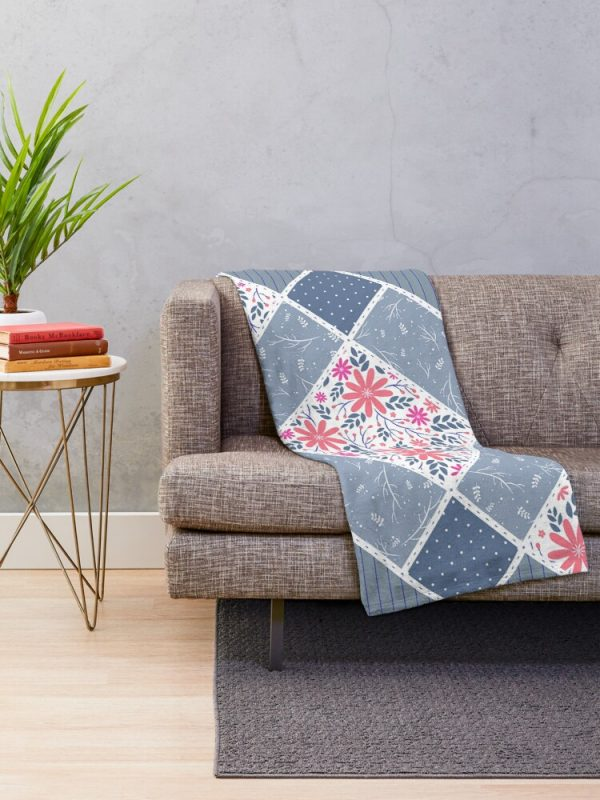 Artistic Distressed French Country Throw Blanket