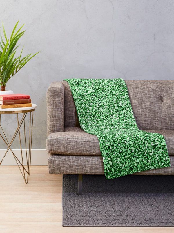 Artistic and Cool Green Stone Print Blanket Living Room