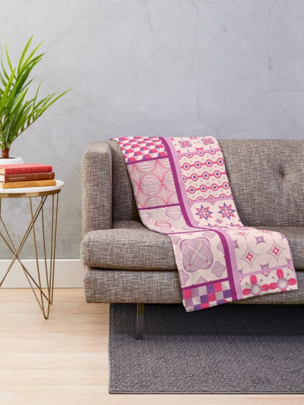 Bohemian Country Patchwork Throw Blanket