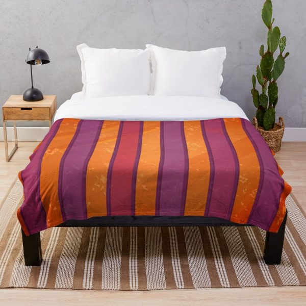 Burnt Orange Bohemian Stripe Throw Blanket