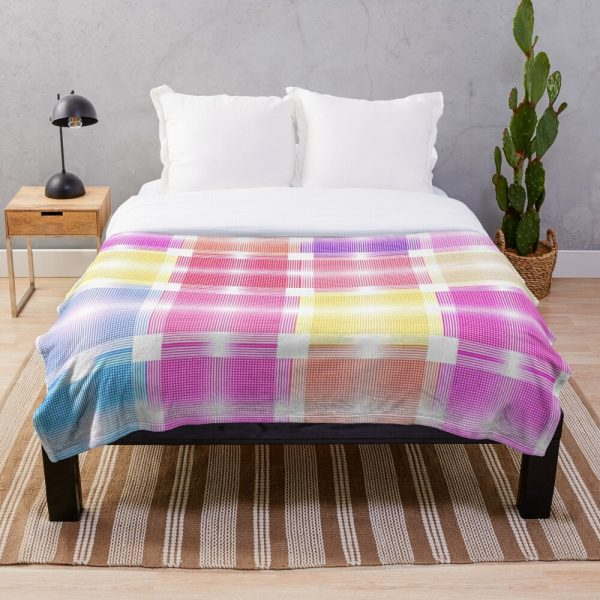 Chic Cool and Pretty Pastel Patchwork Throw Blanket