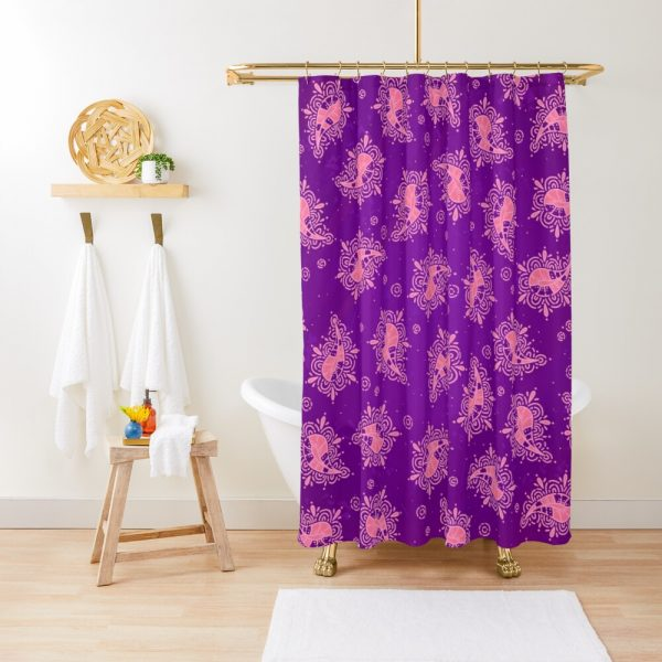 Cute Paisley Floral Pattern Shower Curtain