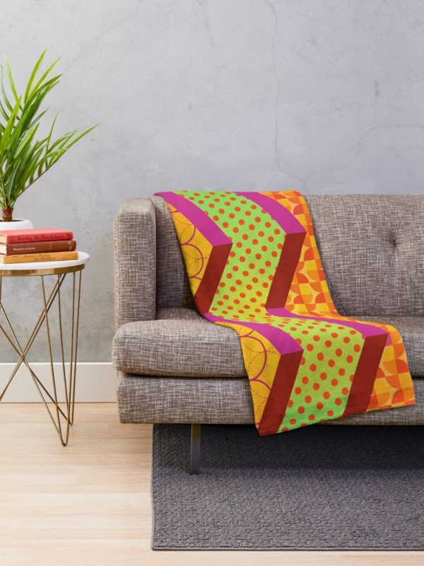 Funky Moroccan Bohemian Throw Blanket Living Room