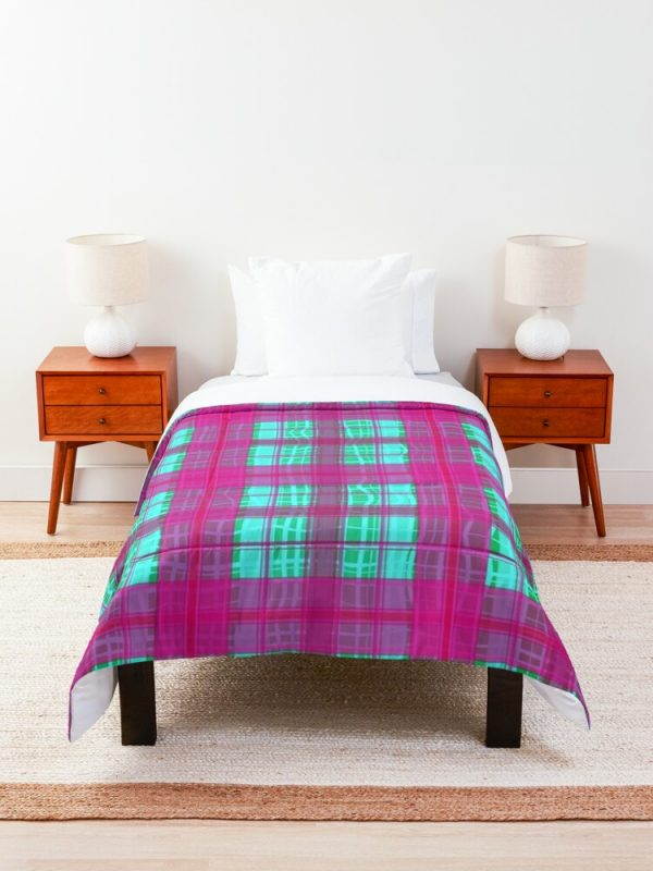 Bright Cute and Girly Patchwork Flannel Striped Comforter