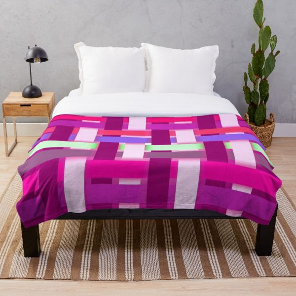 Girly Playful and Cute Ribbon Stripe Throw Blanket