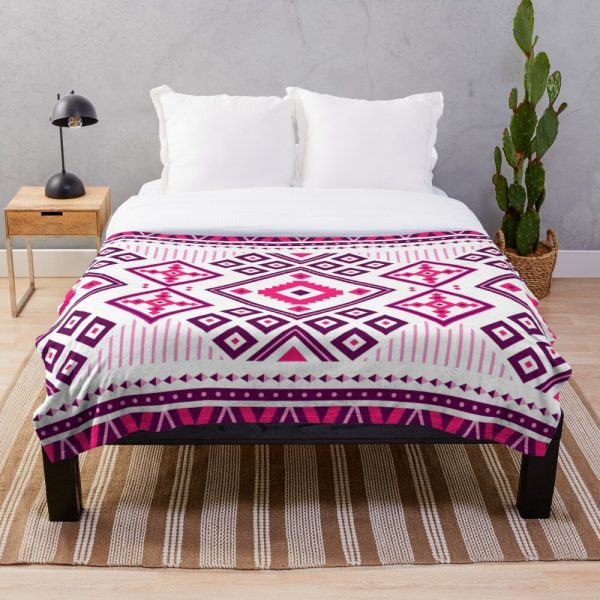 Glam Girly Moroccan Patchwork Throw Blanket