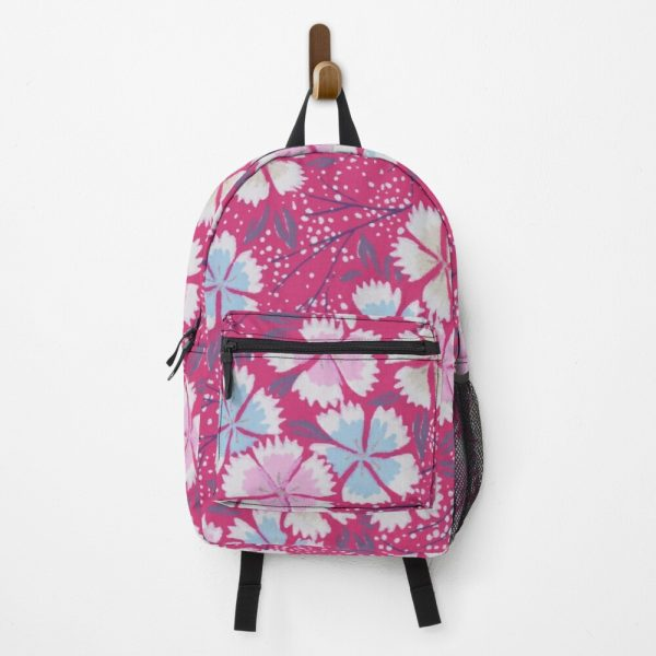 Hipster 60's Floral Print Fabric Backpack