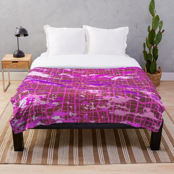 Hipster Brush Strokes Industrial Throw Blanket