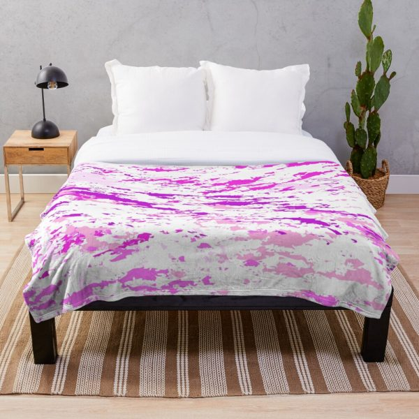 Modern Girly Grunge Paint Splatter Throw Blanket
