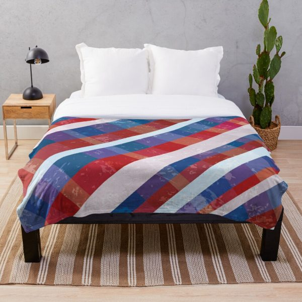 Patriotic Red White and Blue American Throw Blanket