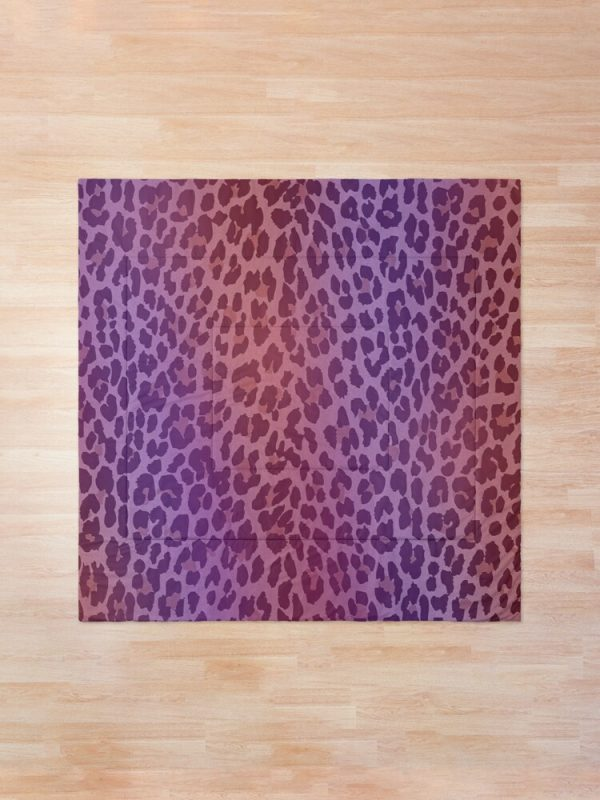 Pink and Purple Leopard Print Comforter