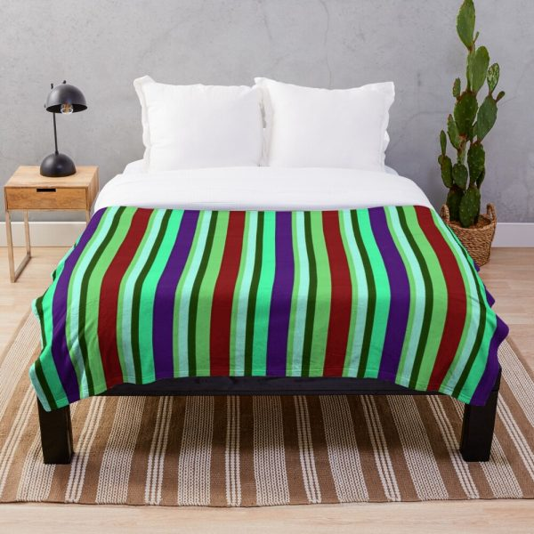 Pretty Colorful and Chic Stripe Throw Blanket
