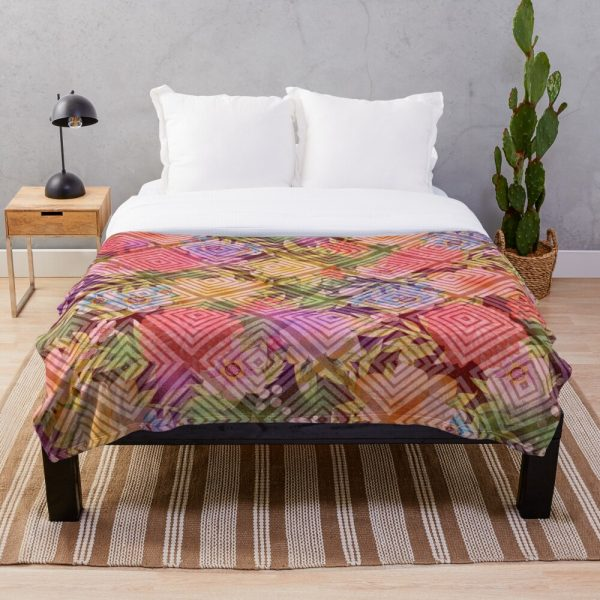 Visions of Spring Floral Throw Blanket