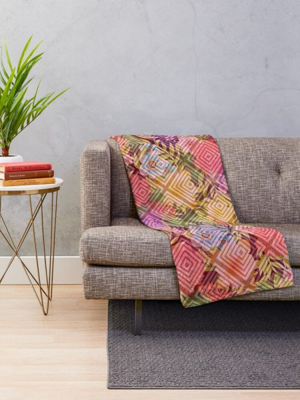 Visions of Spring Floral Throw Blanket Living Room