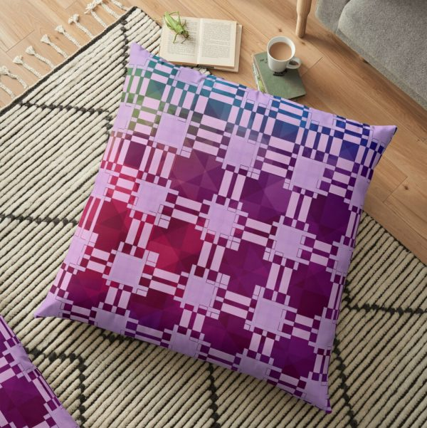Cool Bohemian Patchwork Fabric Print Floor Pillow