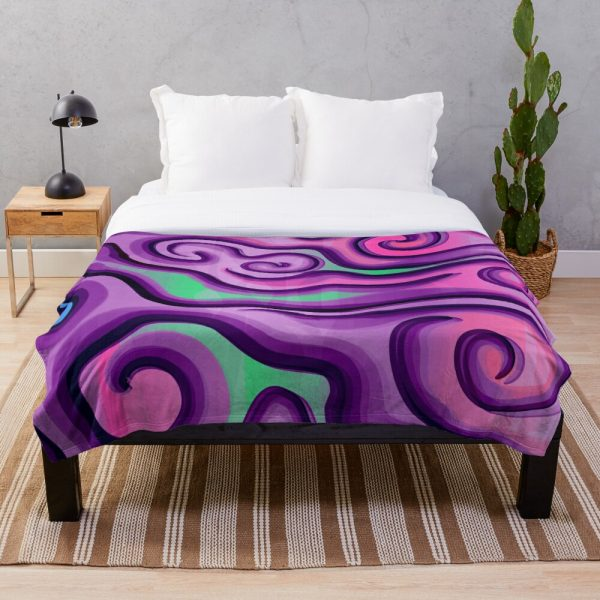 Glam and Funky Psychedelic Throw Blanket