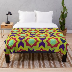 Geometric Intricate Trendy and Colorful Pattern Throw Blanket
