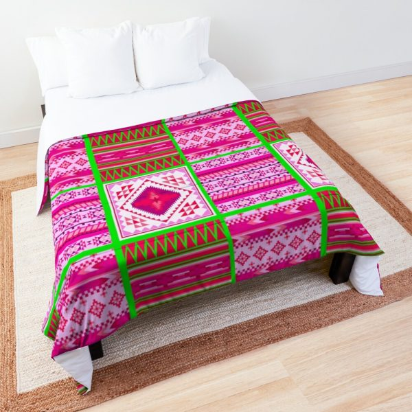 Contemporary South Western Tribal Print Comforter