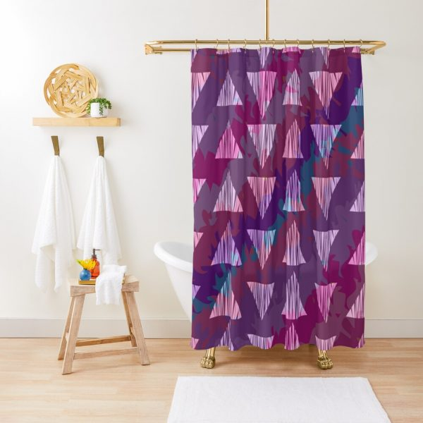 Sassy Fun and Playful Girly Artwork Shower Curtain