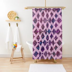 Stained Glass Moasic Pastel Artwork Shower Curtain