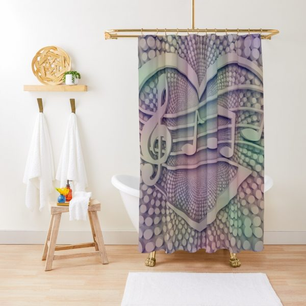 Music Hearts Musical Symphony Shower Curtain
