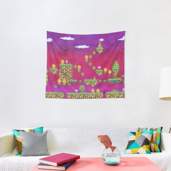 Psychedelic Video Game Design Tapestry