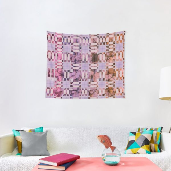 Cool Bohemian Patchwork Fabric Print Tapestry