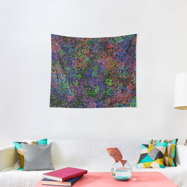 Wilderness Jungle Psychedelic Artwork Tapestry
